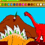 picteaza dinozauri