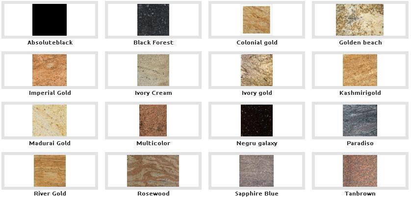 placari granit - culori